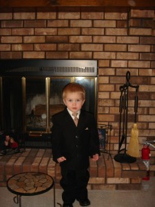Caleb in his suit