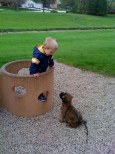 Caleb and Buster at the Park