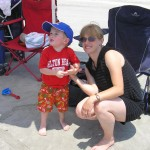 Mommy & Caleb at the beach