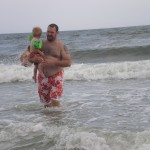 Caleb and Daddy in the ocean