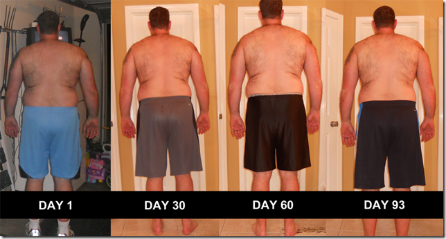 P90X - Back Pictures Day 0 - Day 93