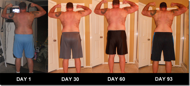 P90X - Back Flexed Pictures - Day 0 - Day 93