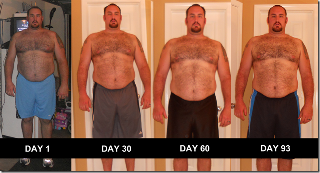 P90X - Front Pictures - Day 0 - Day 93